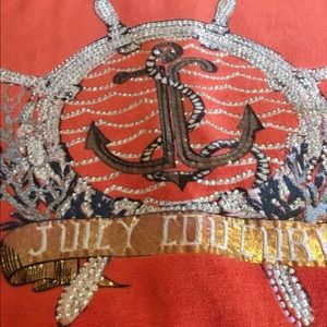 Juicy Couture Velour Nautical Embellished Hoodie L